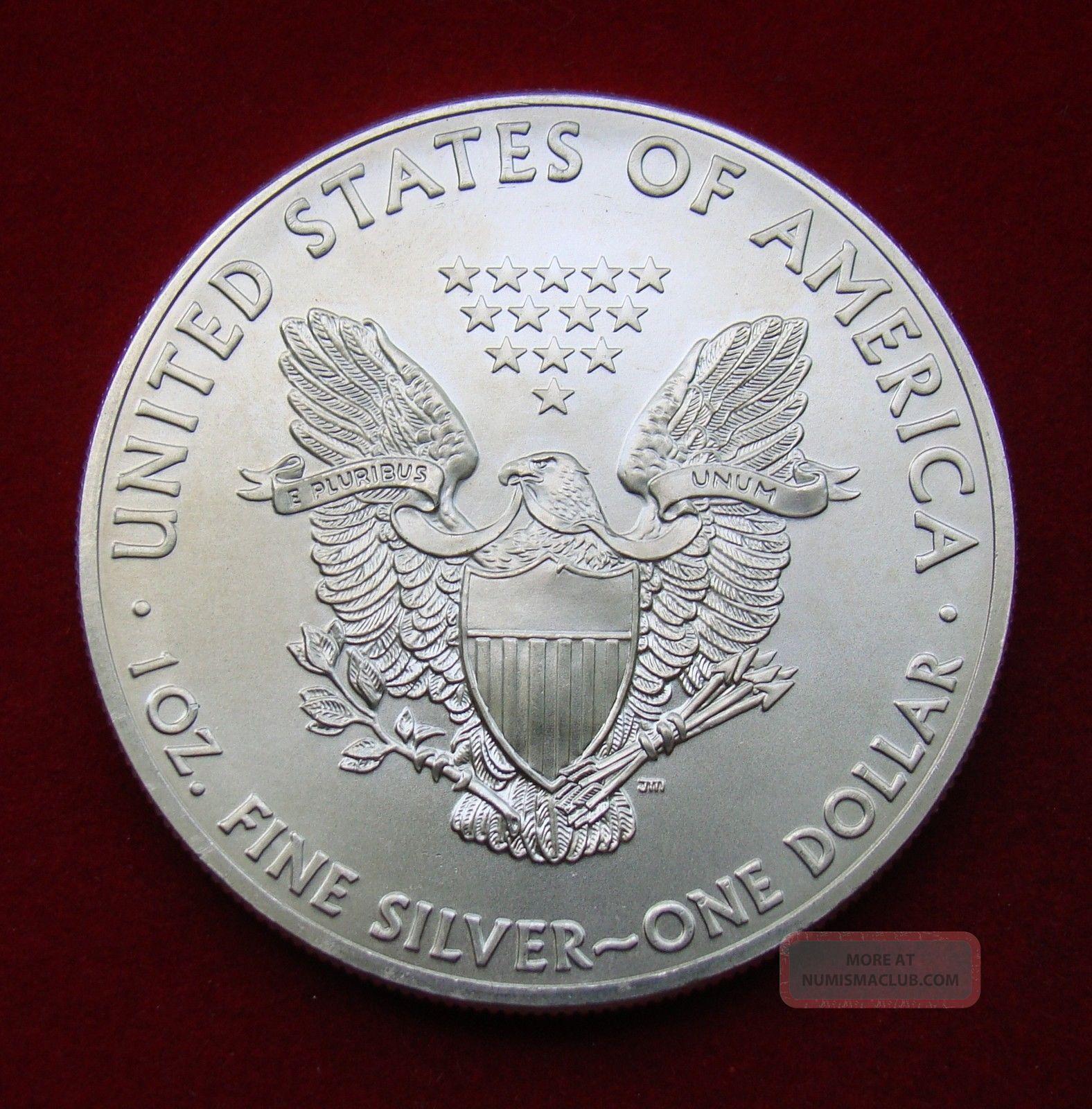 2014 Silver Dollar Coin 1 Troy Oz American Eagle Walking
