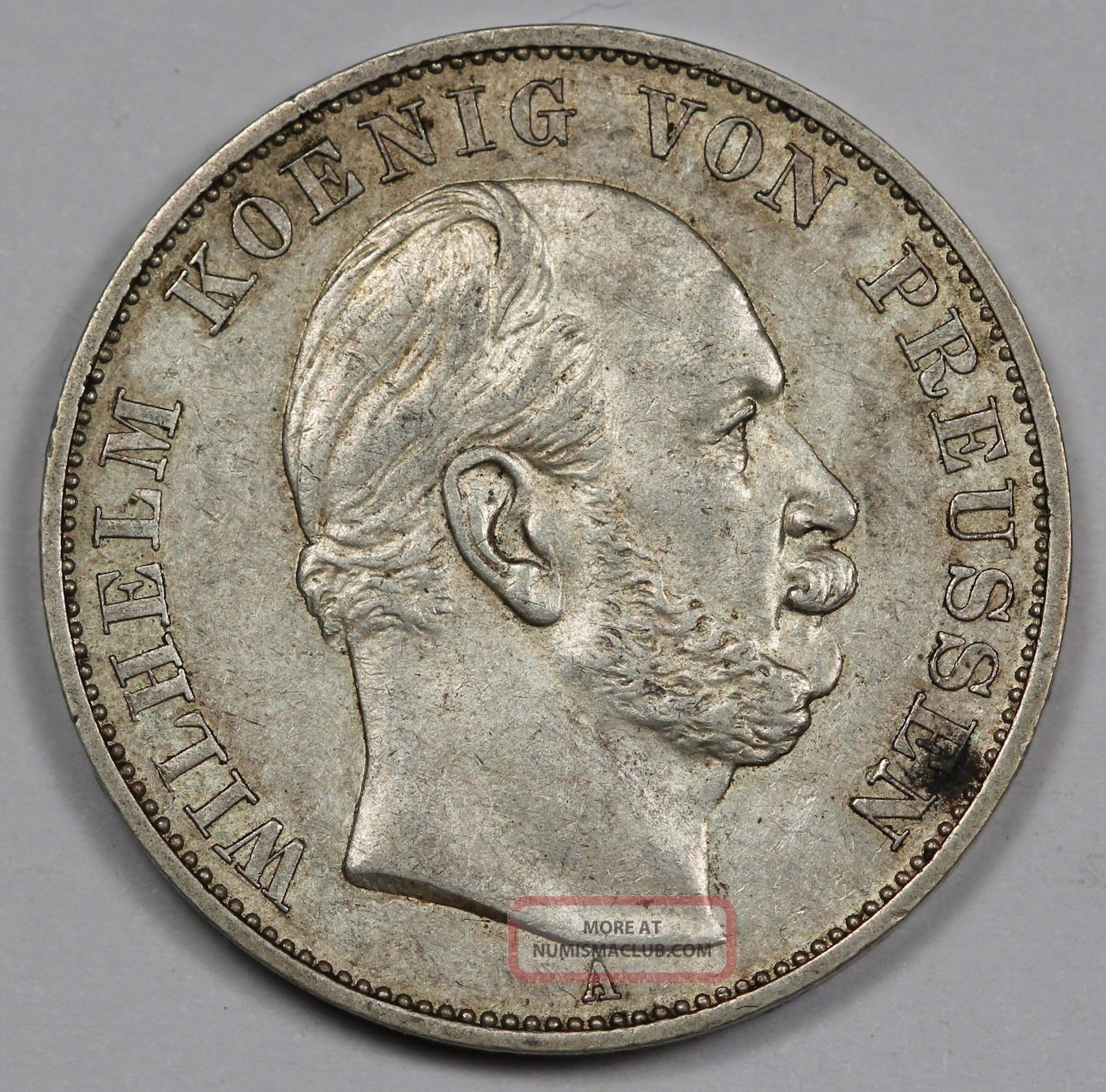 1871 A German States Prussia Thaler Victory Over France Silver Coin Xf,  Km 500 German States (up to 1871) photo