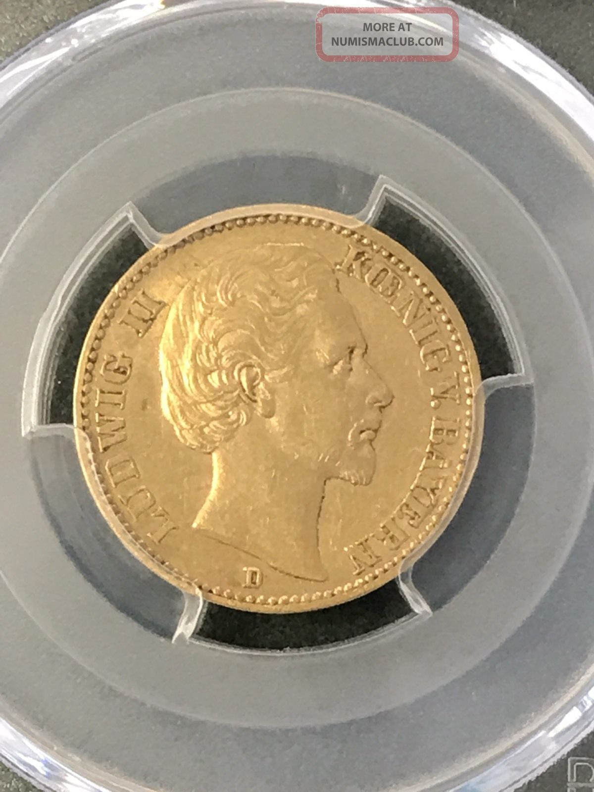 1872 - D Gold 20 Mark German States Ludwig Ii (bavaria) Pcgs Au53 Gold photo
