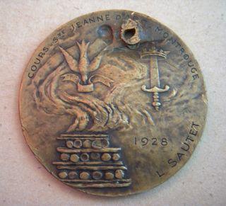 Jeanne D ' Arc Montrouge Bronze Medal 1928 By L Sautet photo