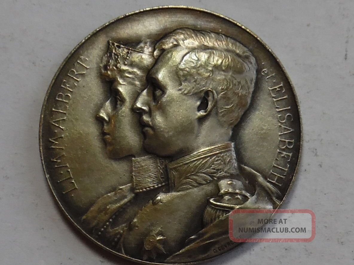 1914 Belgium - Gratitude For America Medal - State,  Ms - Silver Exonumia photo
