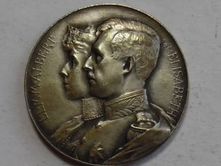 1914 Belgium - Gratitude For America Medal - State,  Ms - Silver photo