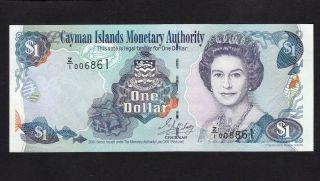 Cayman Islands 1 Dollar (2001) Replacement Z/1 006861 Queen $1 P26 - Unc photo