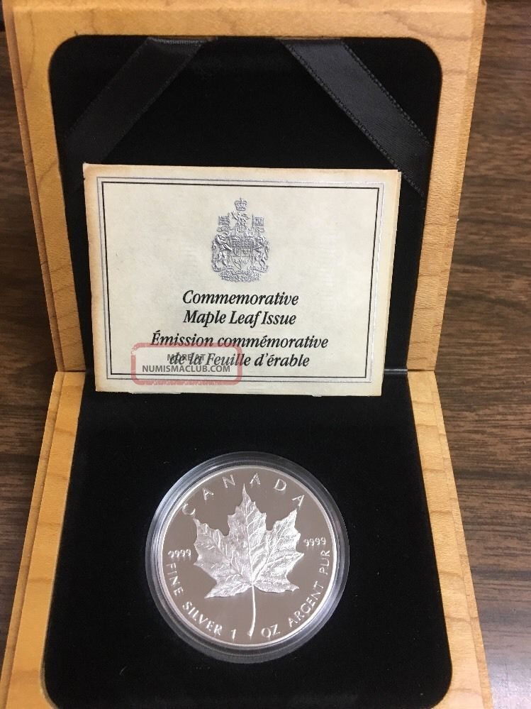 1989 5 Canadian 1oz Proof Maple Leaf 9999