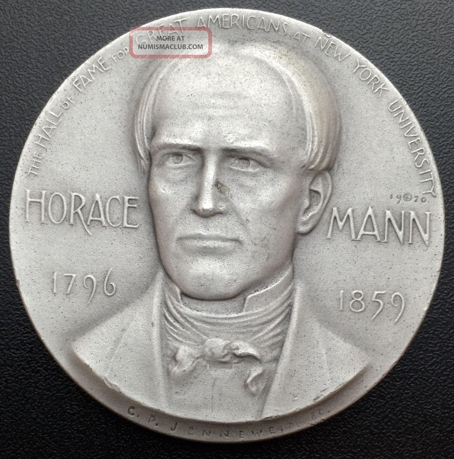 1970 Horace Mann Medallic Art Co N.  Y.  999 Silver Medal 2.  29 Oz (m2) Exonumia photo