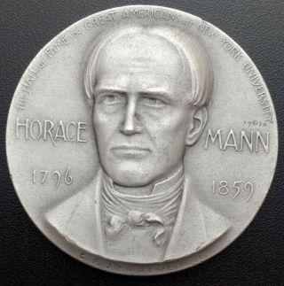 1970 Horace Mann Medallic Art Co N.  Y.  999 Silver Medal 2.  29 Oz (m2) photo