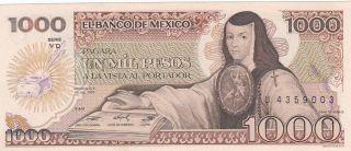 Mexico 1,  000 Pesos 19.  7.  1985 (pick 85) Unc photo