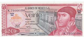 Mexico 20 Pesos 18.  7.  1973 (pick 64b) Unc photo