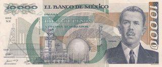 Mexico 10,  000 Pesos 1.  2.  1988 (pick 90b) Unc photo