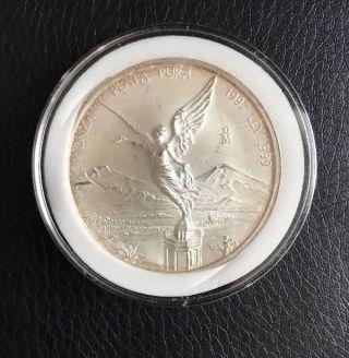 1997 Uncirculated Mexico Libertad 1 Oz.  Silver.  999 1 Onza photo