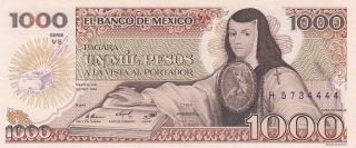 Mexico 1,  000 Pesos 30.  10.  1984 (pick 81) Unc photo