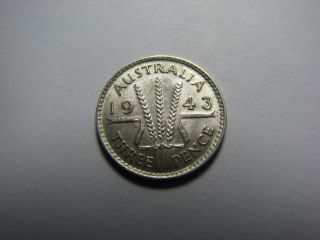 1943 Australia Silver Three Pence photo