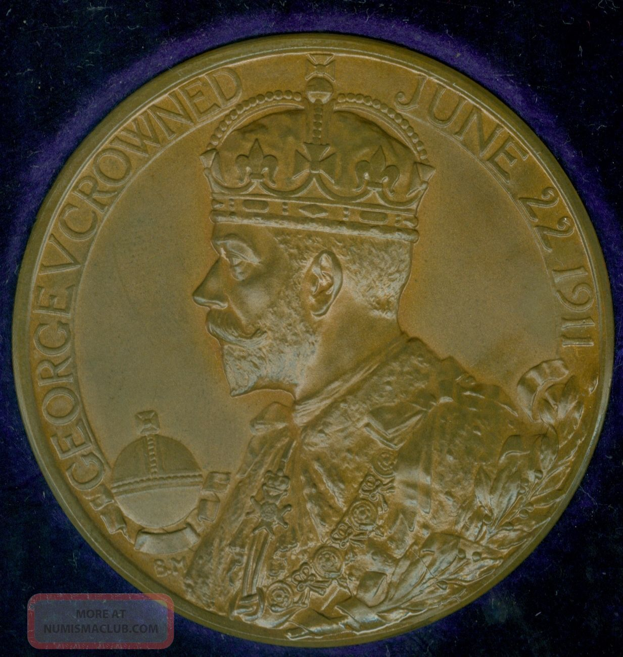 1911 British Medal Issued For The Coronation Of King George V,  By B.  Mackennal Exonumia photo