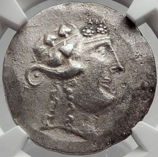 Celtic Celts Danube Silver Tetradrachm Greek Style Coin Like Thasos Ngc I61942 photo