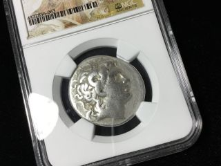 Ngc F Kingdom Of Thrace Lysimachus 305 - 281 Bc Ar Tetradrachm 36733 photo