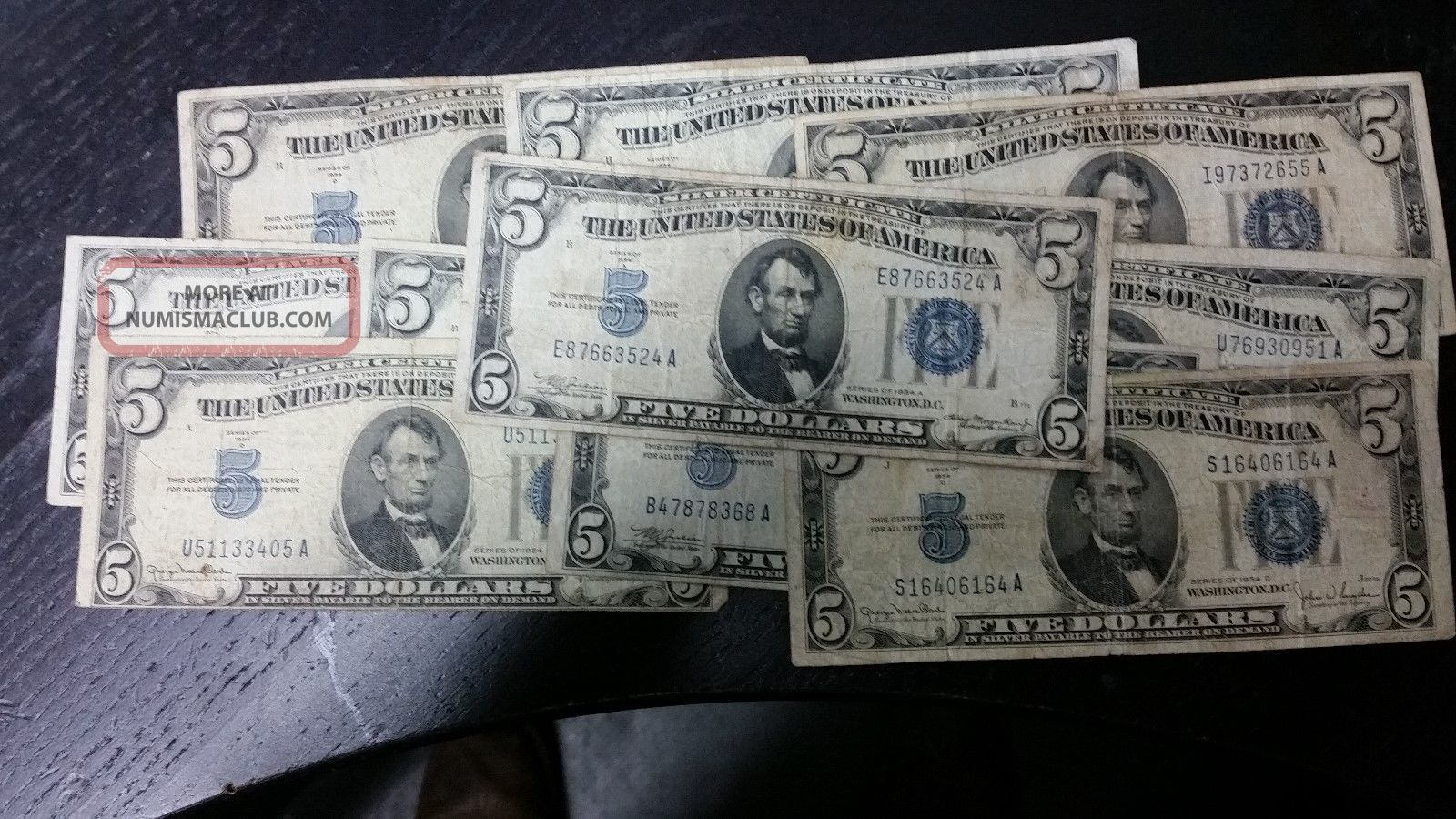 Series 1934 5 Silver Certificates