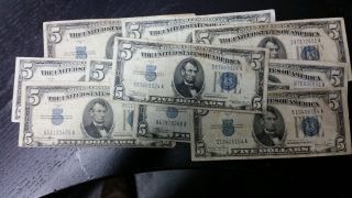 Series 1934 $5 Silver Certificates photo