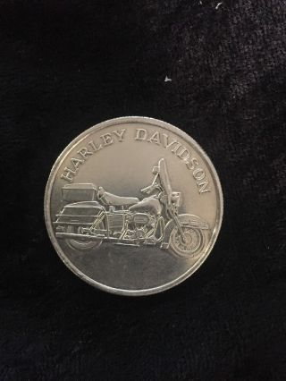 Harley Davidson Silver Round 1 Oz.  999 Fine Silver Motorcycle Rare Amc photo