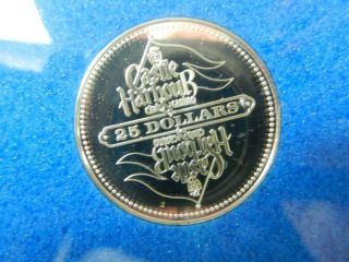 Franklin Sterling Silver Castle Harbour Casino Token 25 Dollars Fm1977 photo