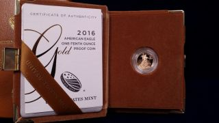 2016 American Gold Eagle One - Tenth Once Proof And photo