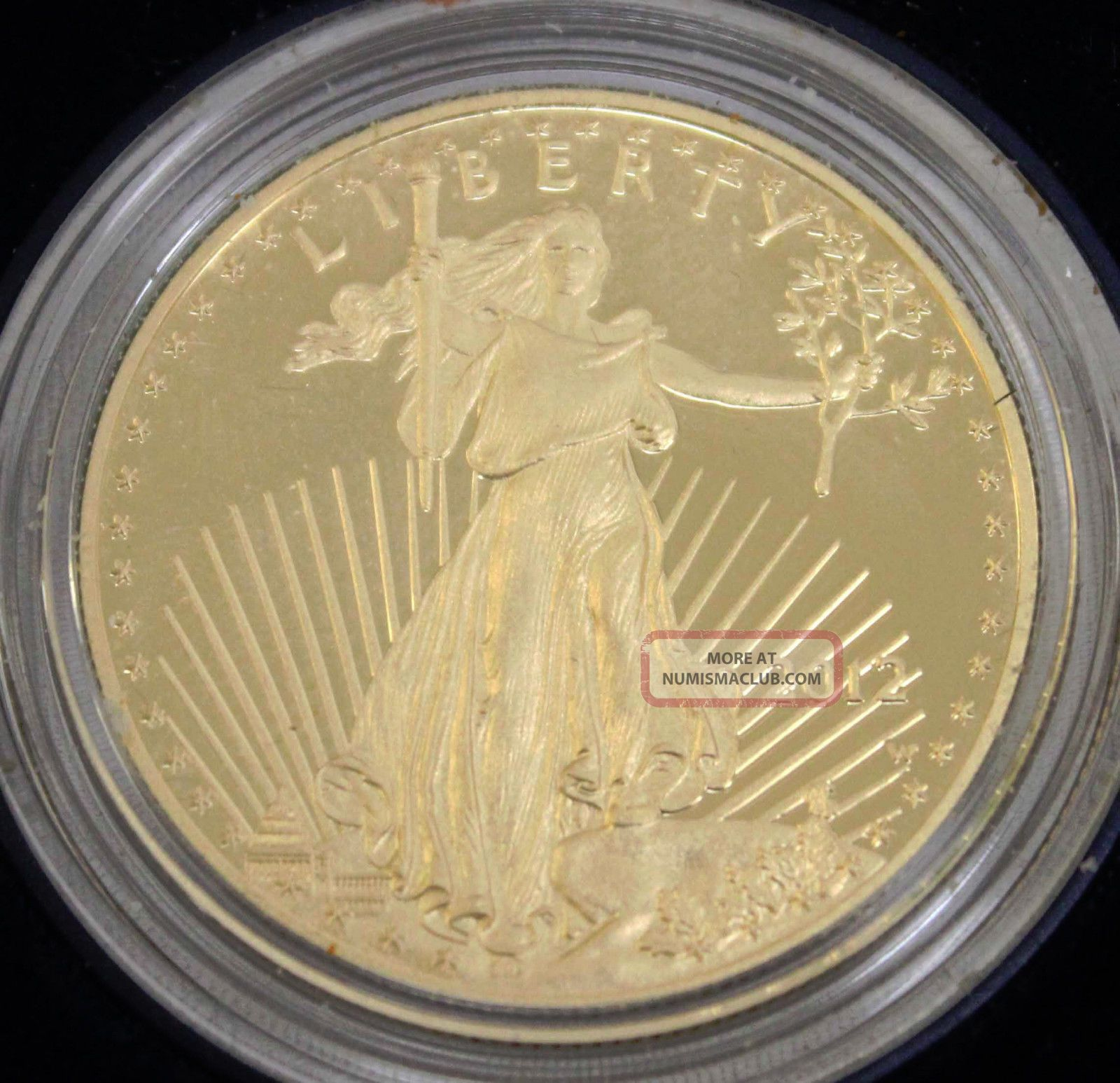 2012 W Us American Eagle One Ounce 50 Dollar Gold Proof