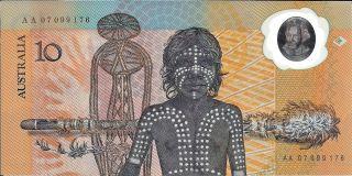 1988 Australia - 10 Dollars In Unc Pick: 49 Prefix: Aa photo