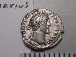 Roman; Antoninus Pius 138 - 61 Ad Silver Denarius.  Rev; Cos Iiii.  Vesta.  Ric 203. photo