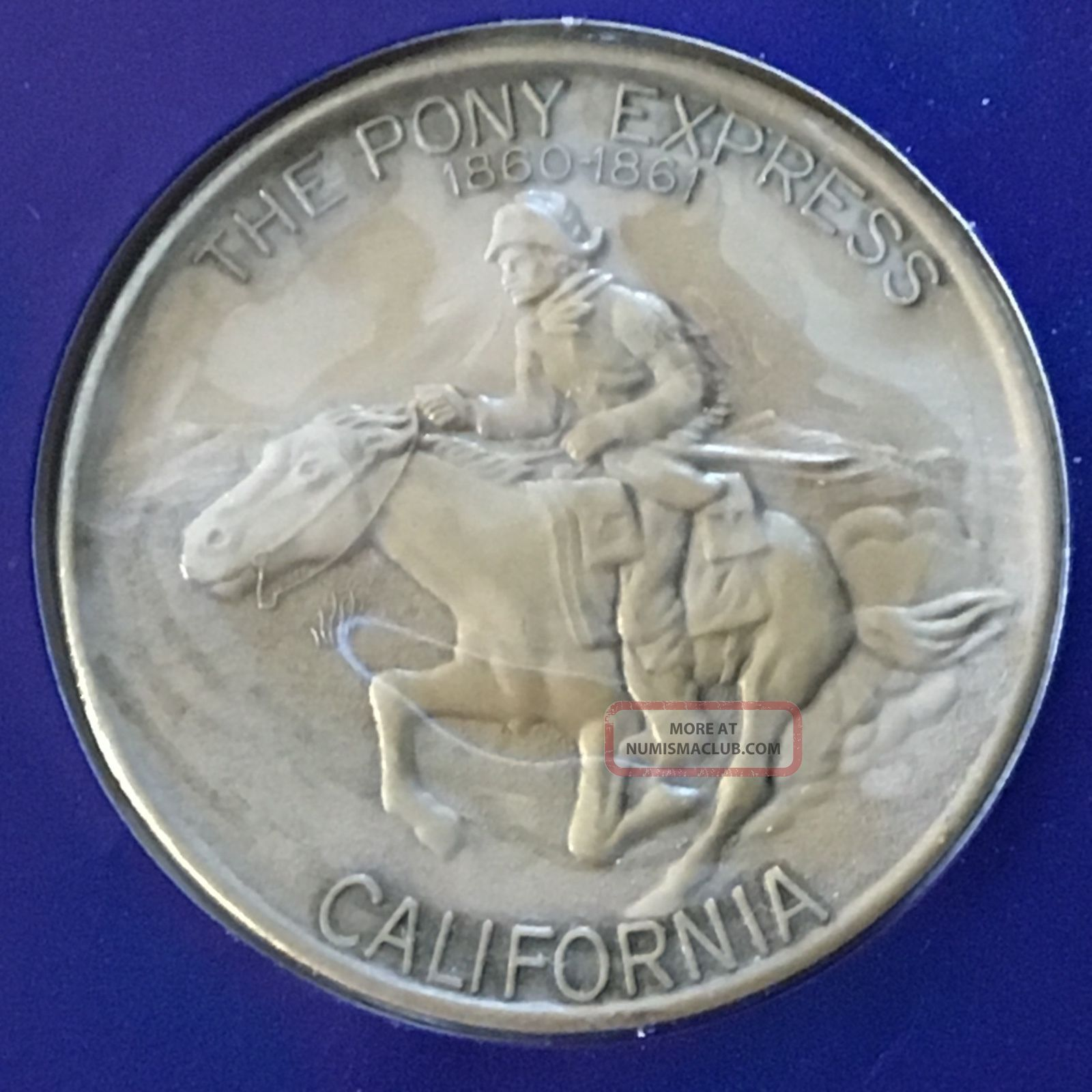 California Medallion,  American Revolution Bicentennial 1975,  Pony Express (box1) Exonumia photo
