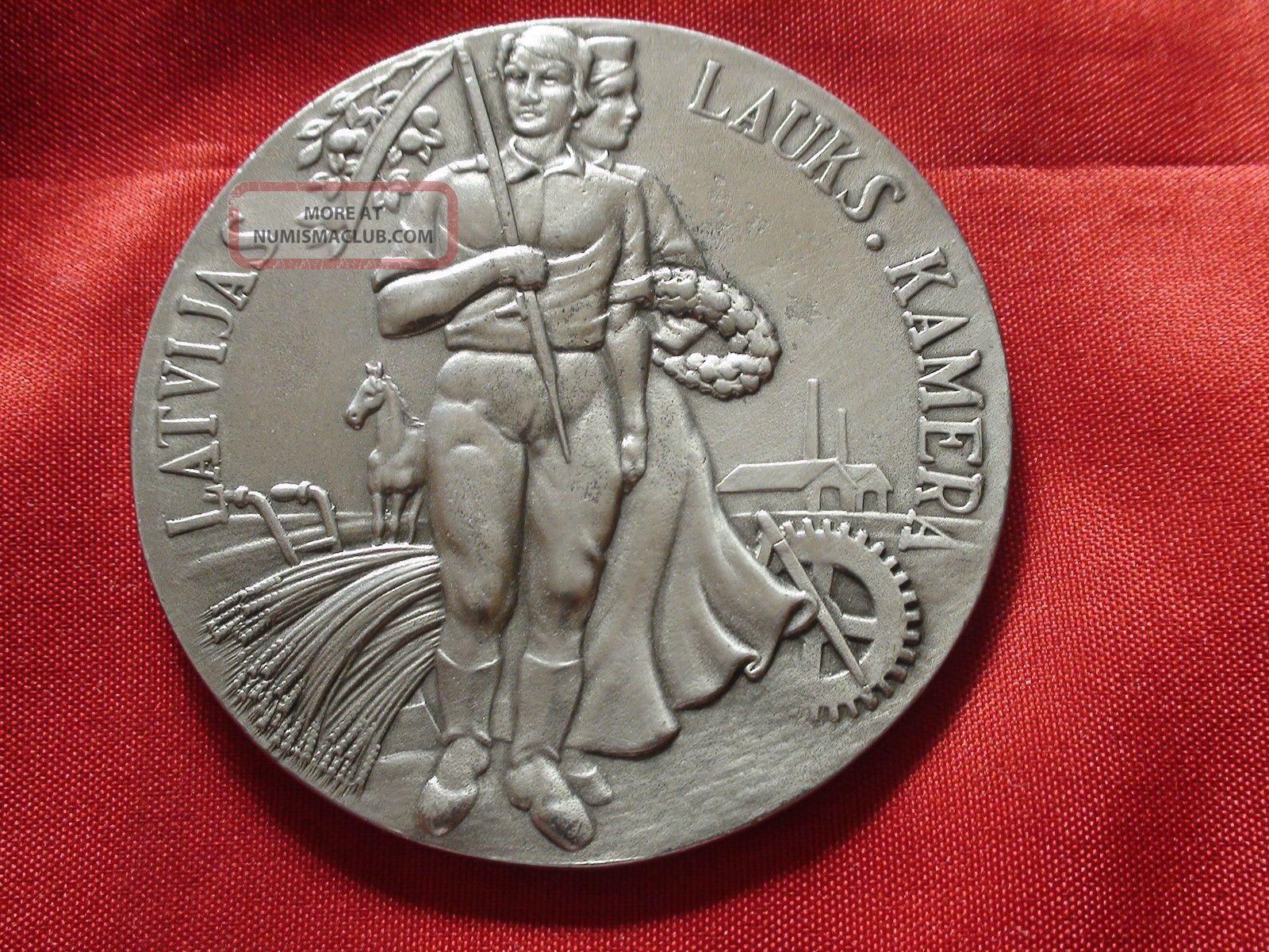 Supper Rare Medal Latvijas LauksmniecĪbas Kamera 1925 - 1929 Years Exonumia photo