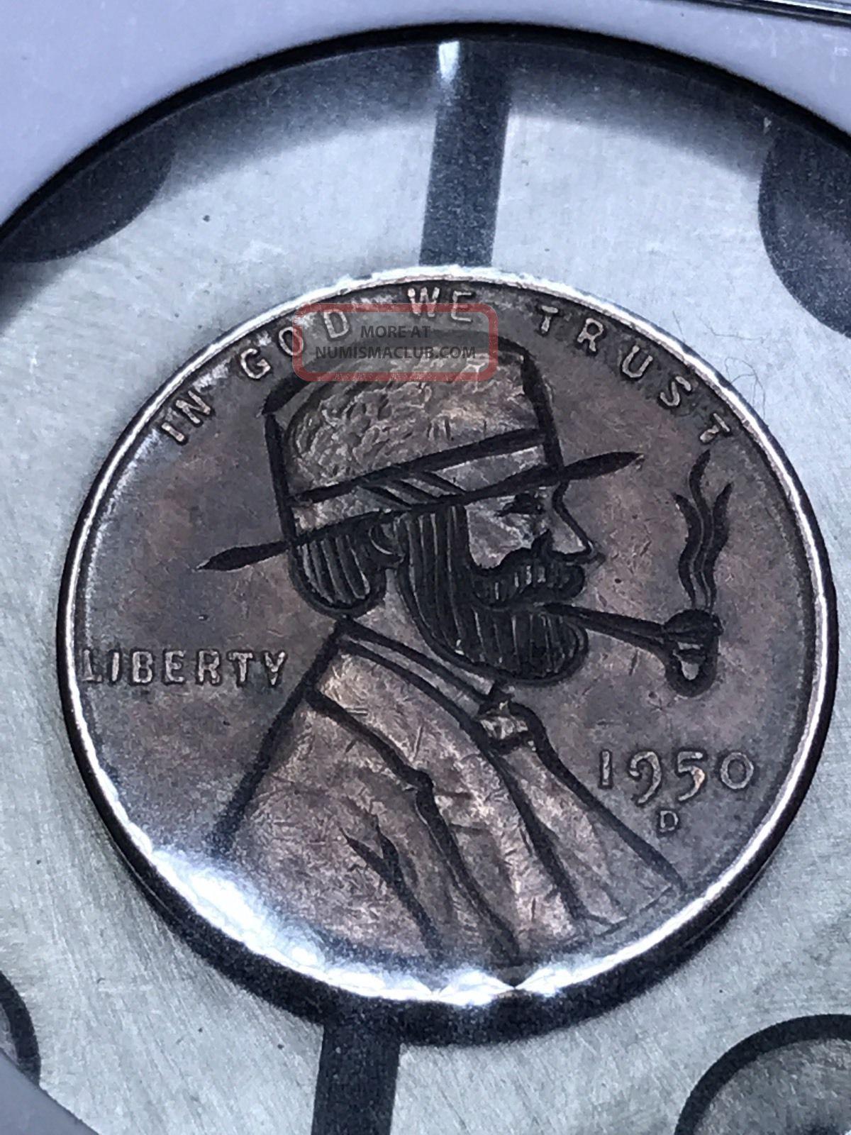 Coin Art Hobo Nickel Pipe 9 Exonumia photo