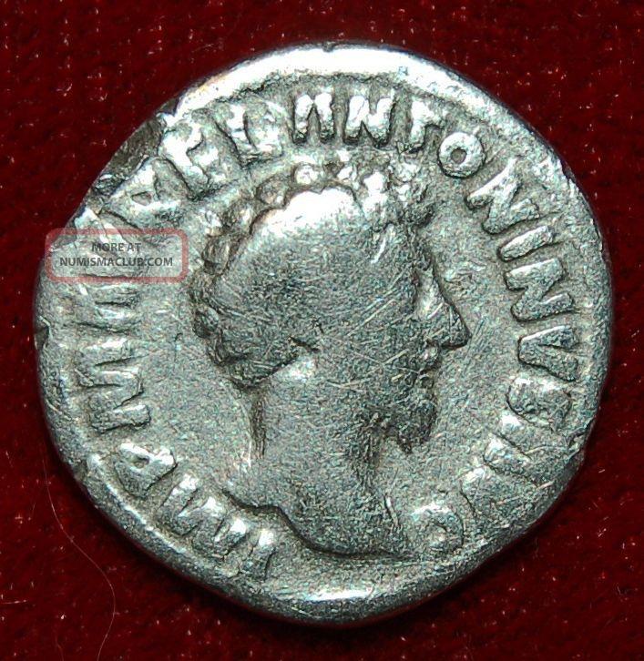 Roman Empire Coin Marcus Aurelius Concordia Seated On