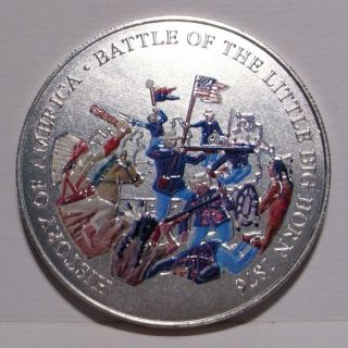 1976 History Of America Battle Of Little Big Horn Medal,  Bu photo