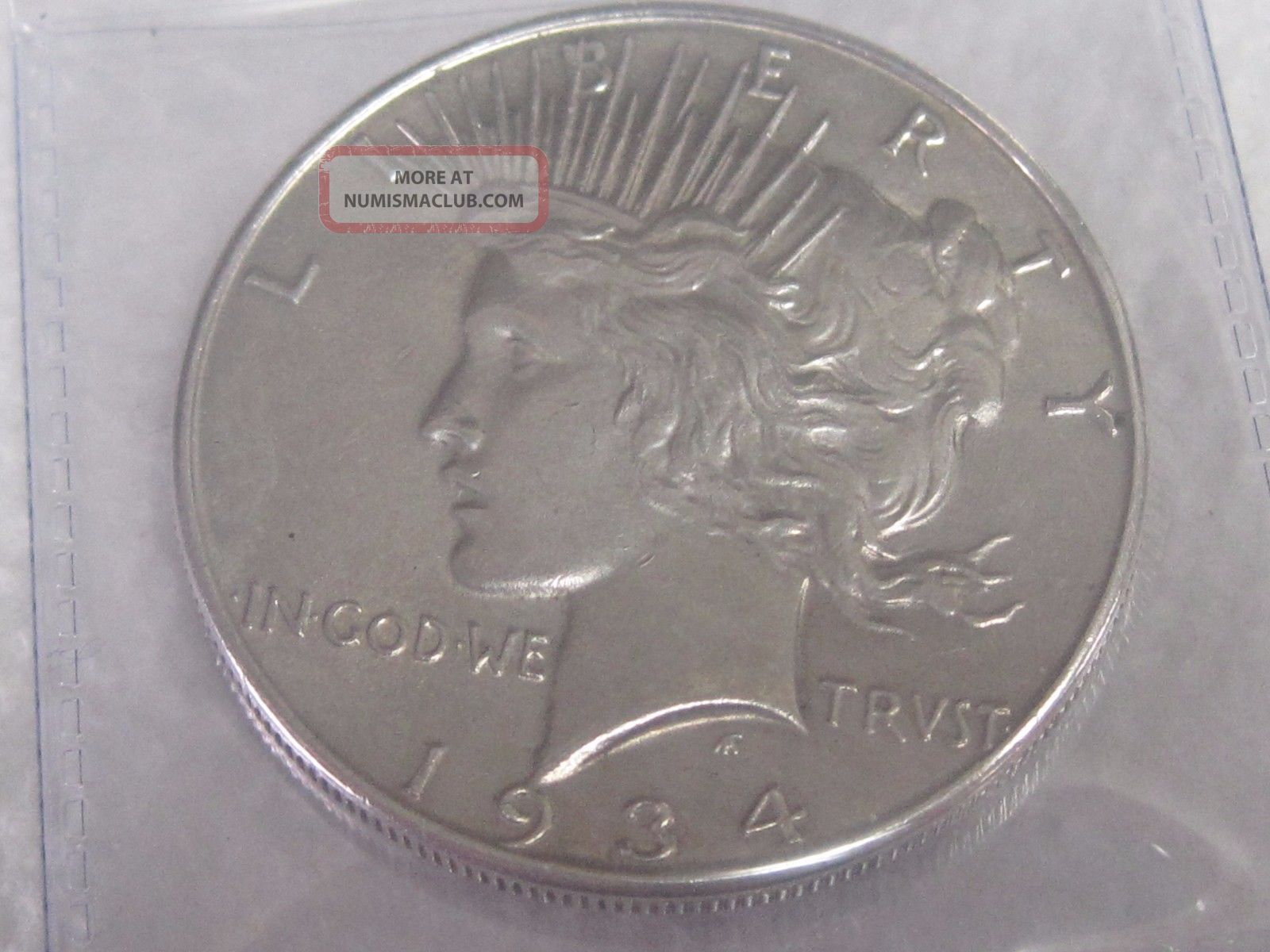 1934 Peace Silver Dollar Dollars photo