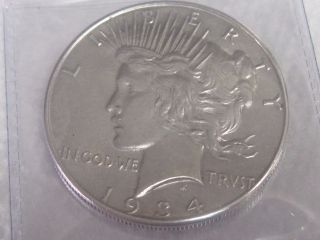 1934 Peace Silver Dollar photo