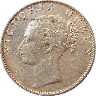 Scarce East India Company 1840 Silver Rupee Coin Madras Victoria Km - 457.  12 Au photo