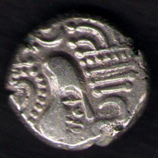 Ancient India - Indo Sassanian Empire (3 - 4 Centuries) Silver Drachm photo