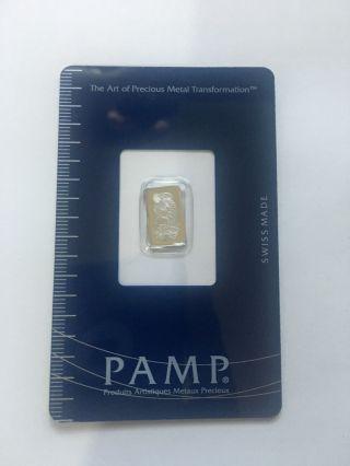 1 Gram Pamp Suisse Platinum Bar In Assay photo