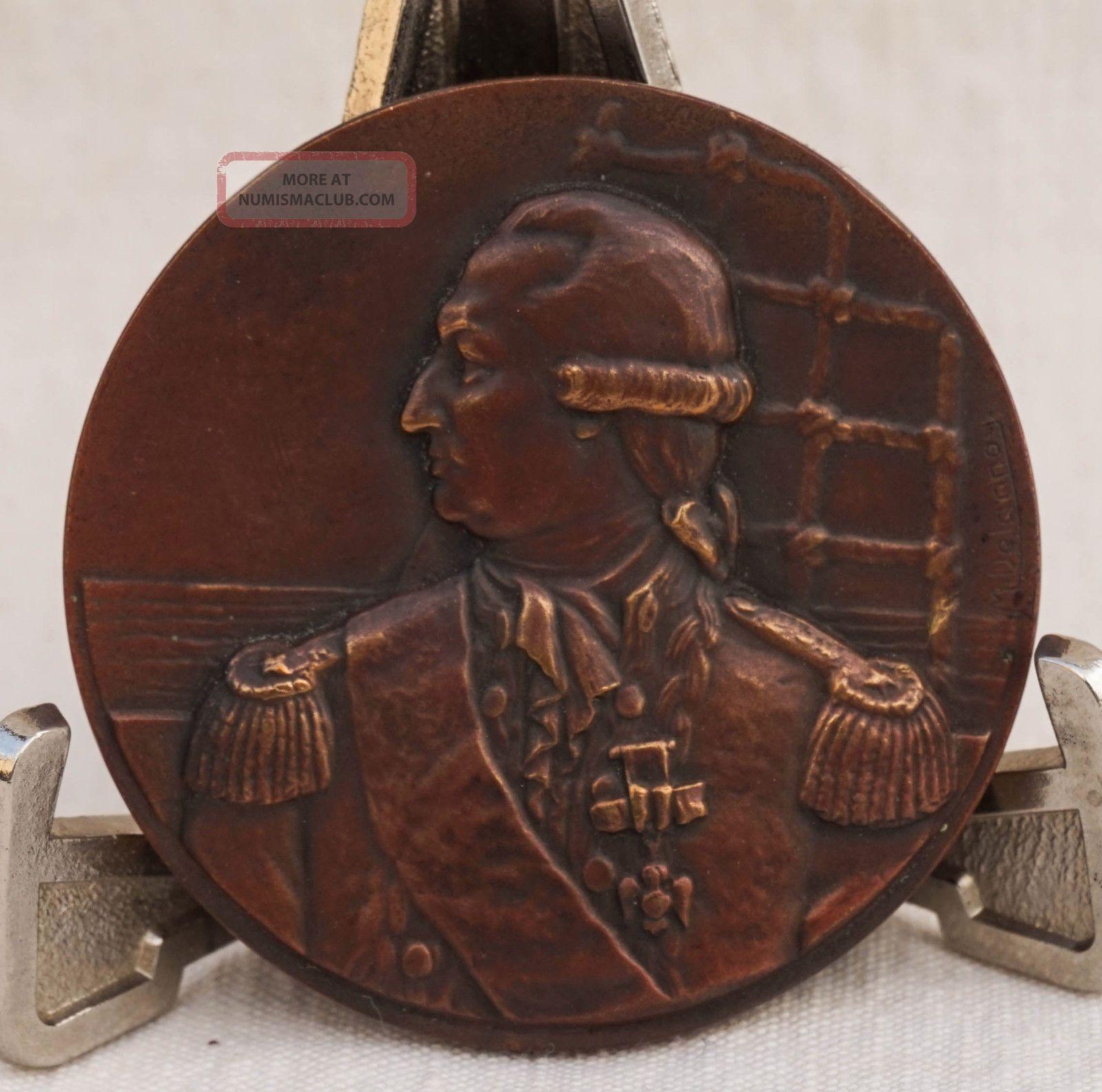 1924 Bronze Medal Ss De Grasse Ocean Liner Compagnie Generale Transatlantique De Exonumia photo