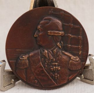 1924 Bronze Medal Ss De Grasse Ocean Liner Compagnie Generale Transatlantique De photo