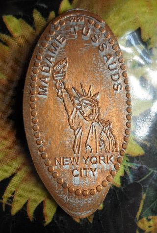 Statue Of Liberty Elongated Penny Ny Usa Cent Madame Tussauds Souvenir Coin photo