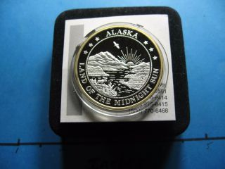 Grizzly Bear Paw Alaska Very Rare 999 Silver Gold Coin Case Only 1 Ebay photo