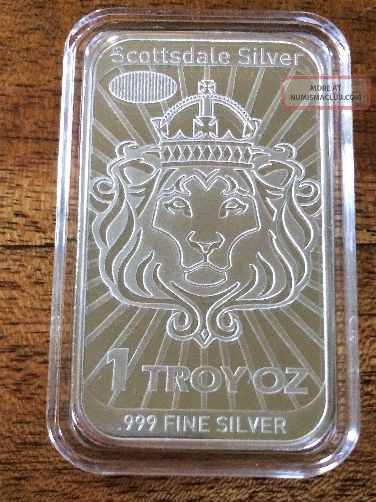 1oz 2014 Scottsdale Silver Niue Coinbar - Coin Bar -.  999 Silver Legal Tender Silver photo