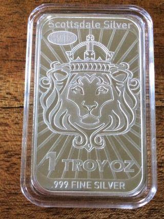 1oz 2014 Scottsdale Silver Niue Coinbar - Coin Bar -.  999 Silver Legal Tender photo
