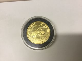 Cortez Gold Mine 1 Troy Ounce Round.  999 Pure In Hard Plastic.  05207 photo