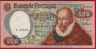 1979 Portugal 500 Escudos Note 177a Unc photo