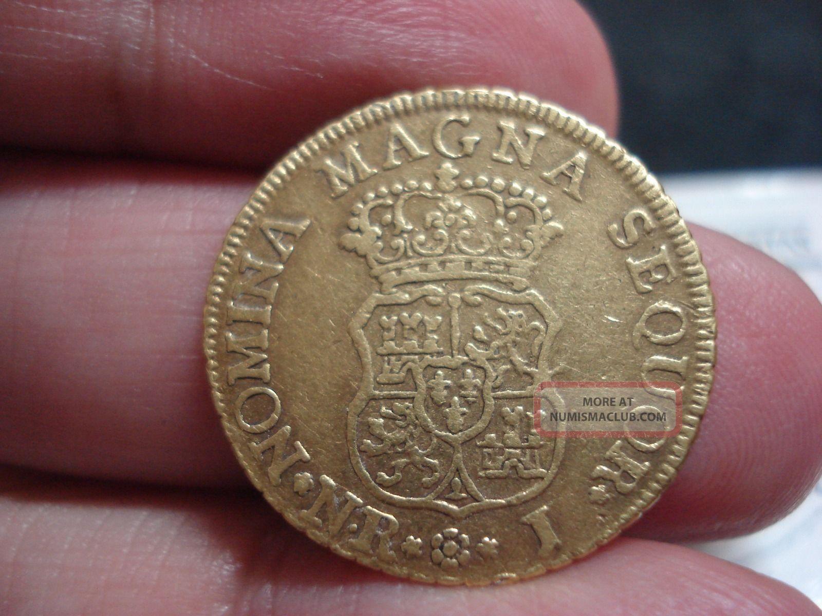 2 Escudos Ferdinand Vi 1758,  Kingdom.  Ex Cayon Coins: World photo