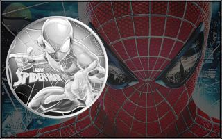 2017 Tuvalu Marvel Series Spider - Man Bu 1 Oz.  999 Silver Round Pre - Coin photo