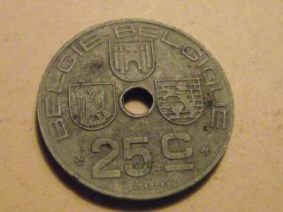 1021 Belgium; 25 Centimes 1944 photo