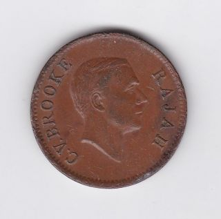 Sarawak Rajah C.  V.  Brooke One Cent Coin - 1937 photo