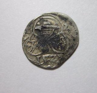 Austria,  Salzburg.  Silver 2 Pfennig,  1521.  Matthaus Lang Von Wellenburg. photo